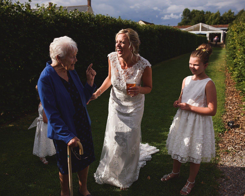 wedding at yeo valley gardens