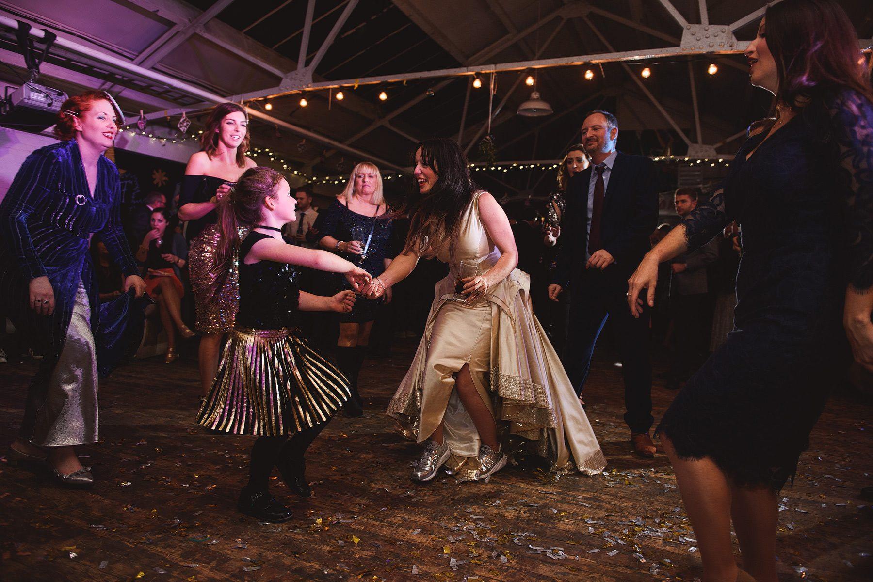 fun dancing wedding photos