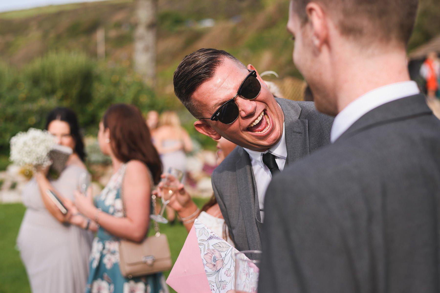 funny polhawn fort wedding photo