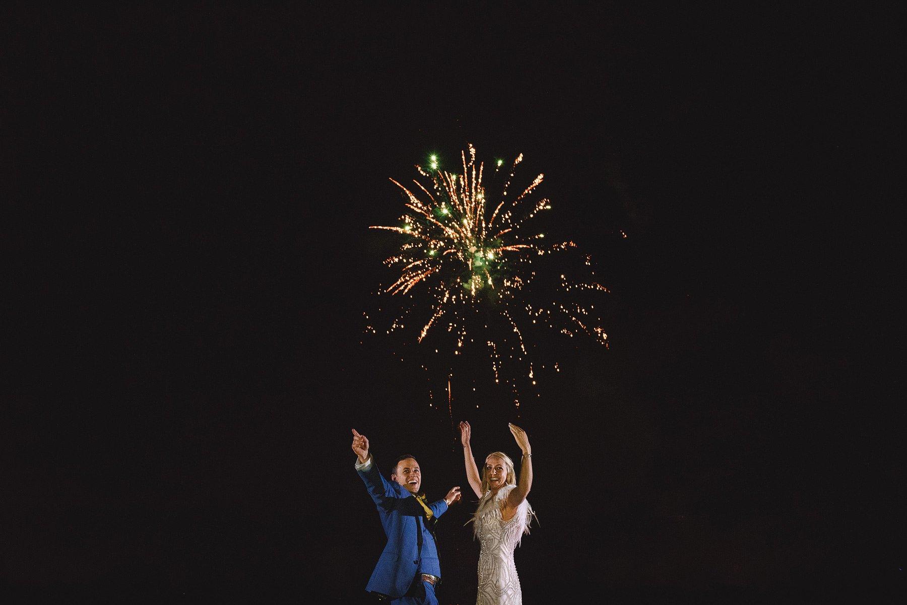 amazing fireworks at a uk wedding