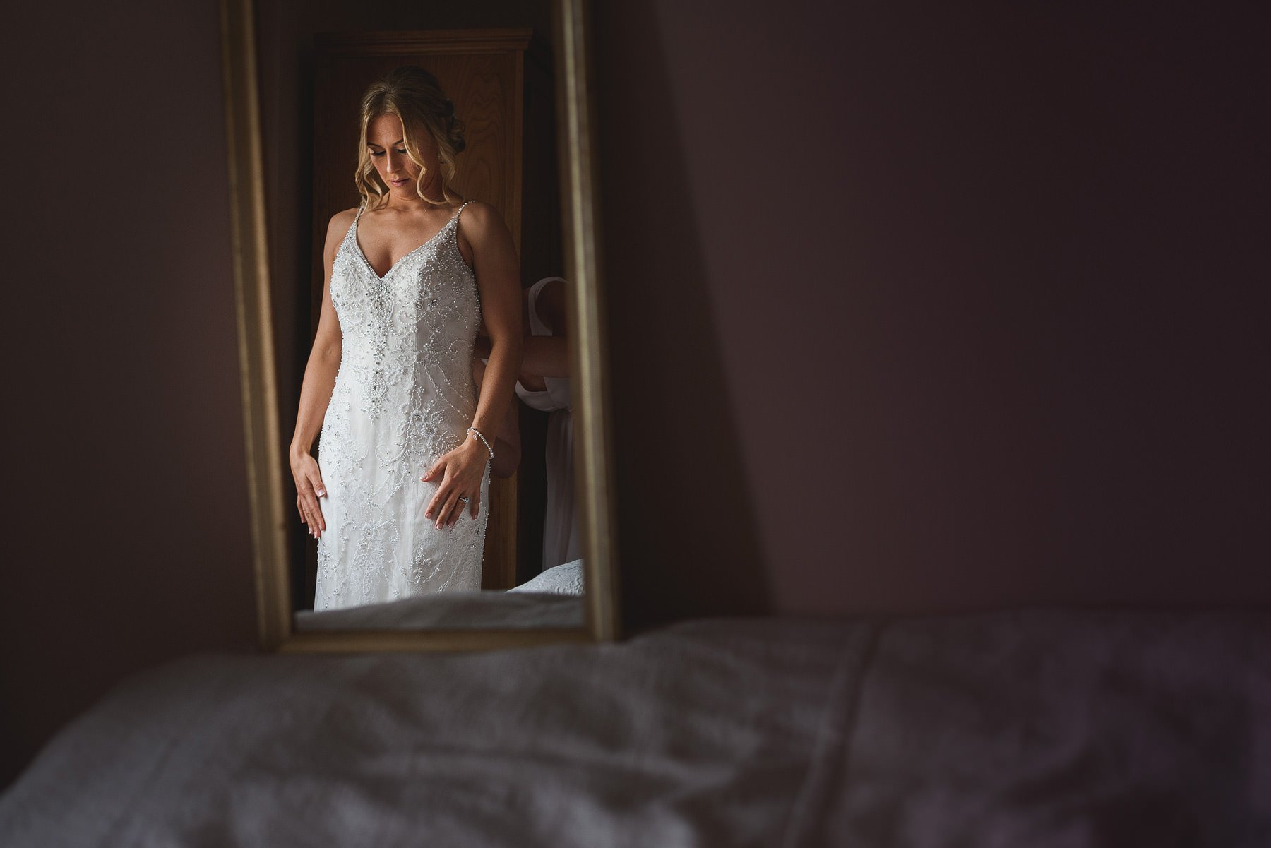 bride getting married at almonry barn
