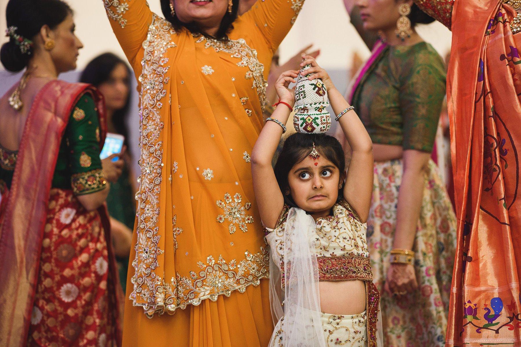 nervous girl at indian wedding