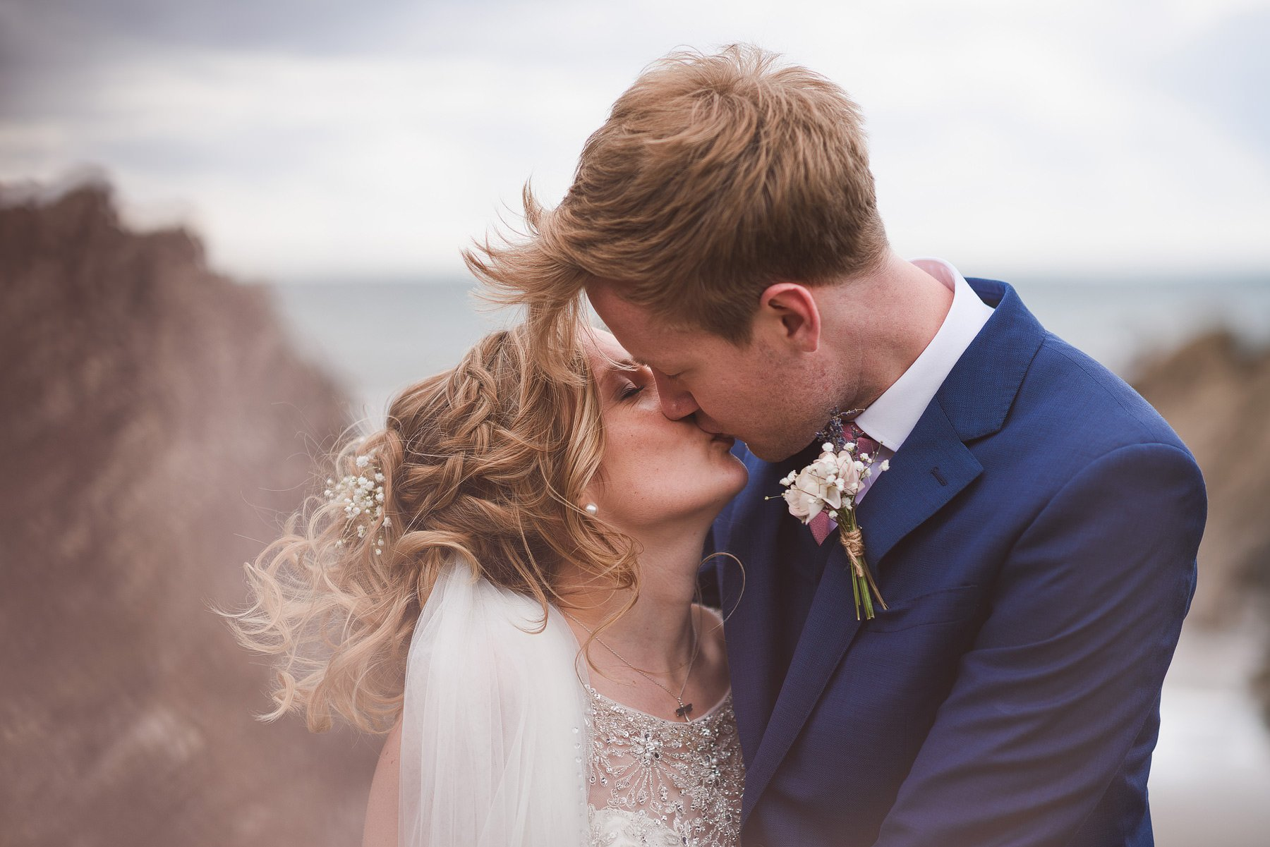 polhawn fort bride and groom kiss