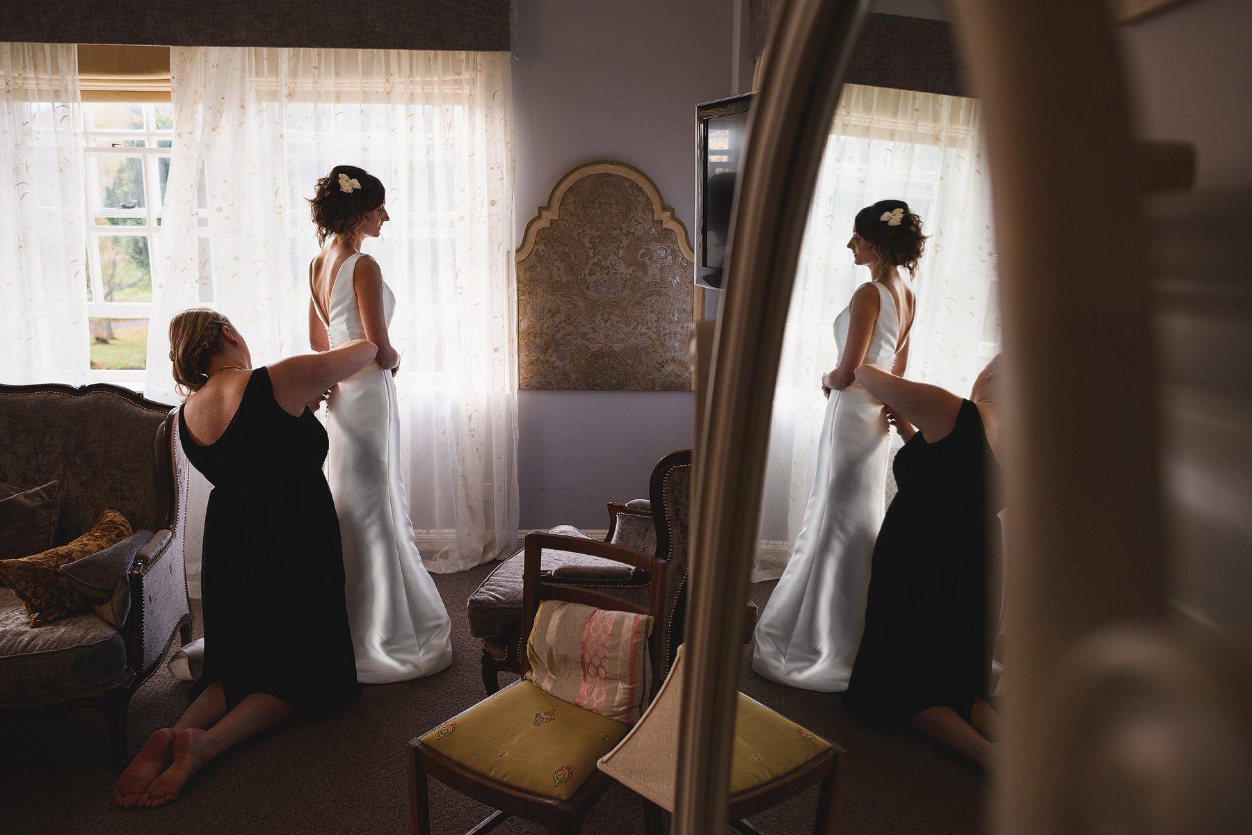bride getting ready at brinsop court