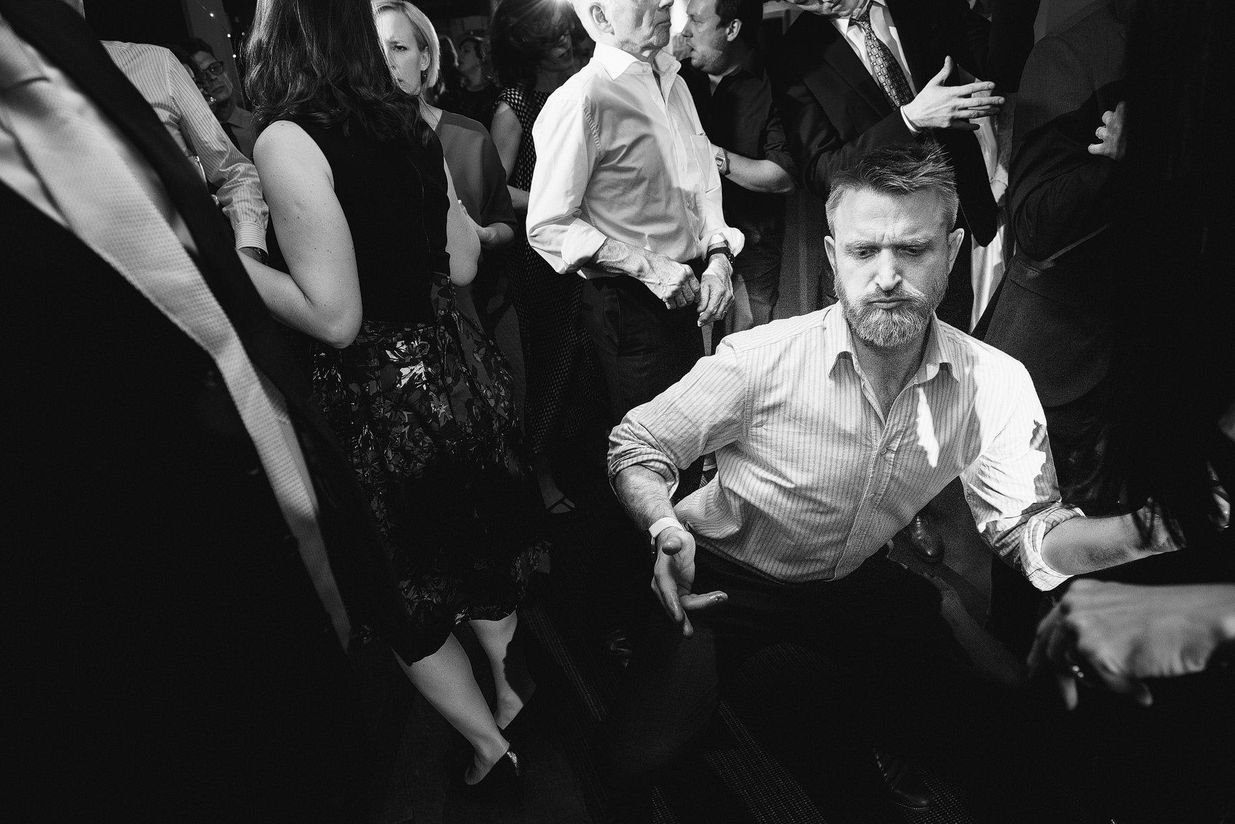 wedding guest funky dancing