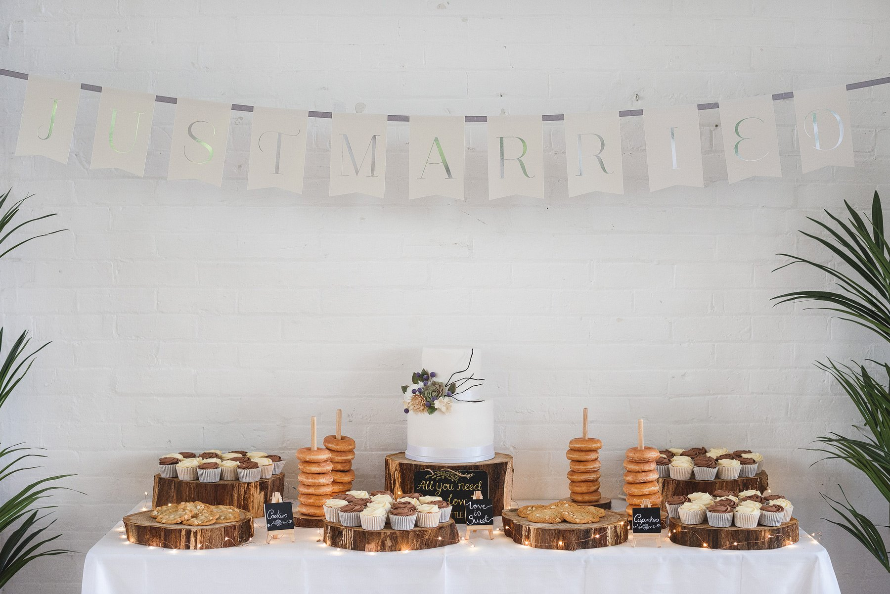 amazing cake table at a wedding