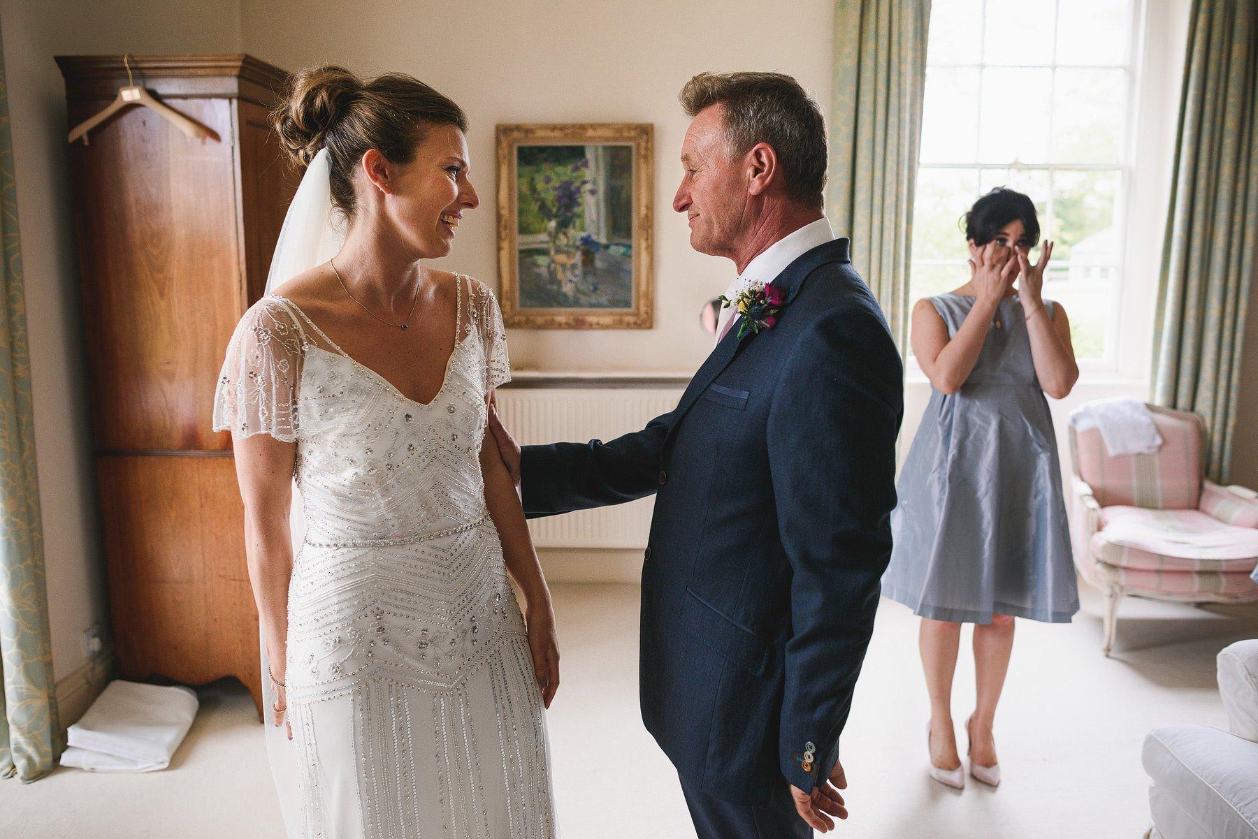 emotional dad on the wedding day at matara centre