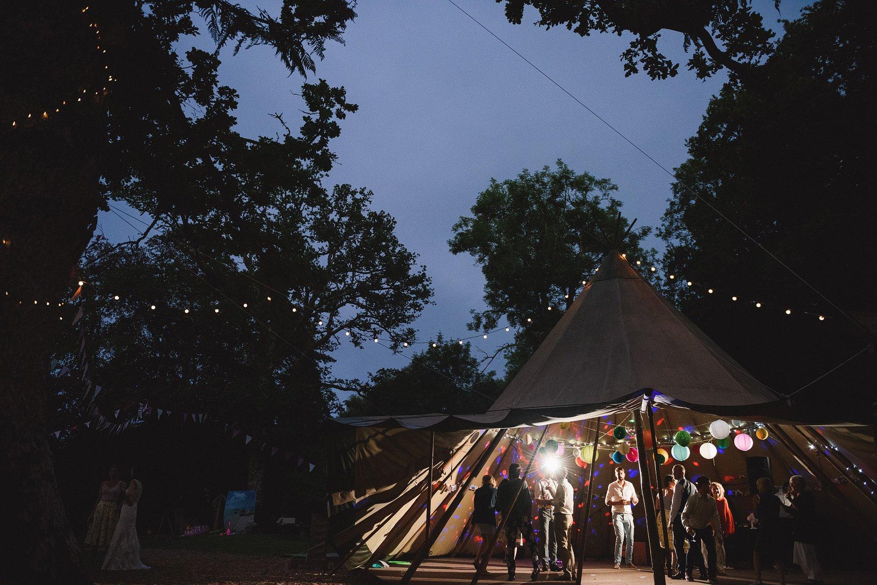 yurt camp devon wedding party