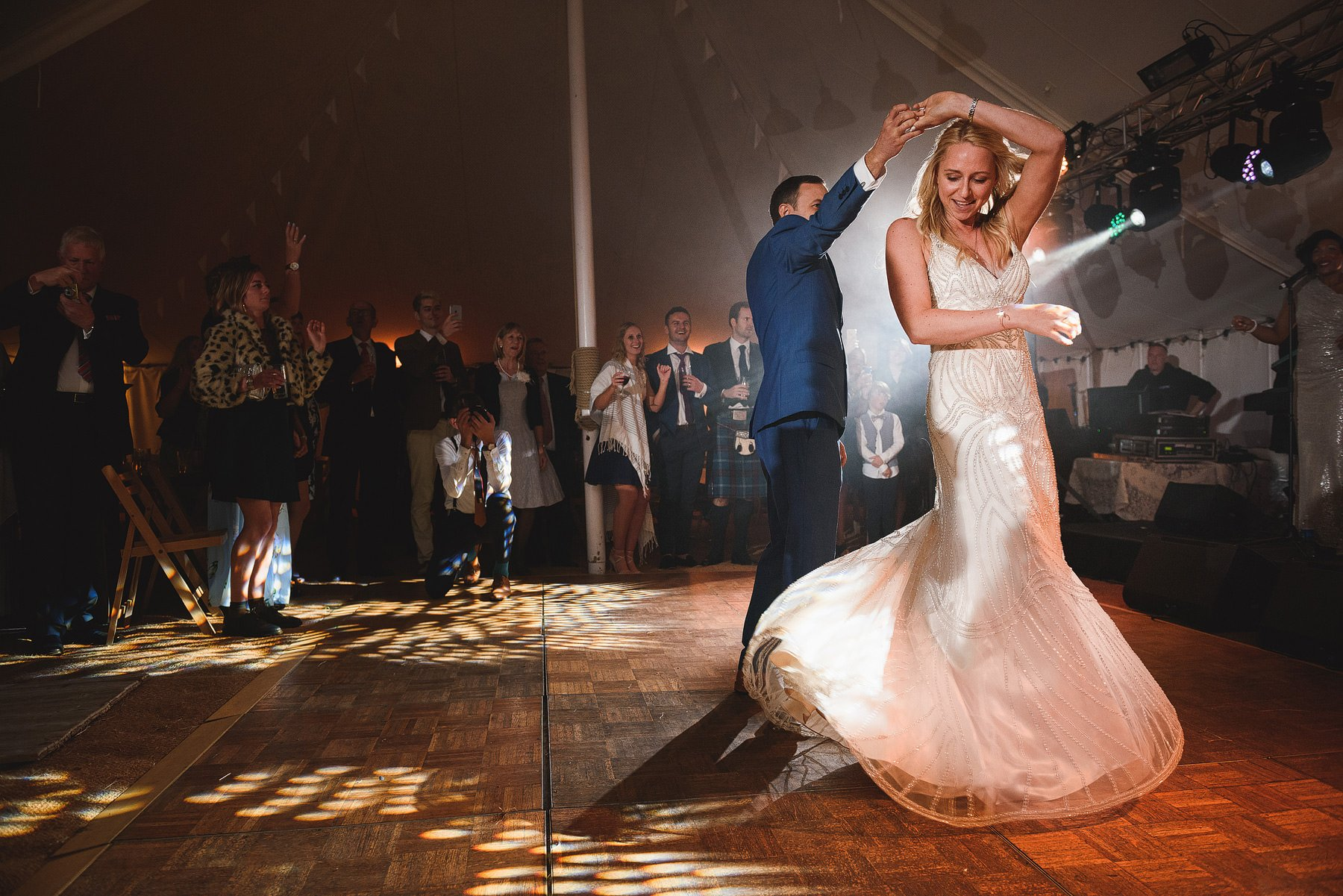 bride and groom first dance somerset