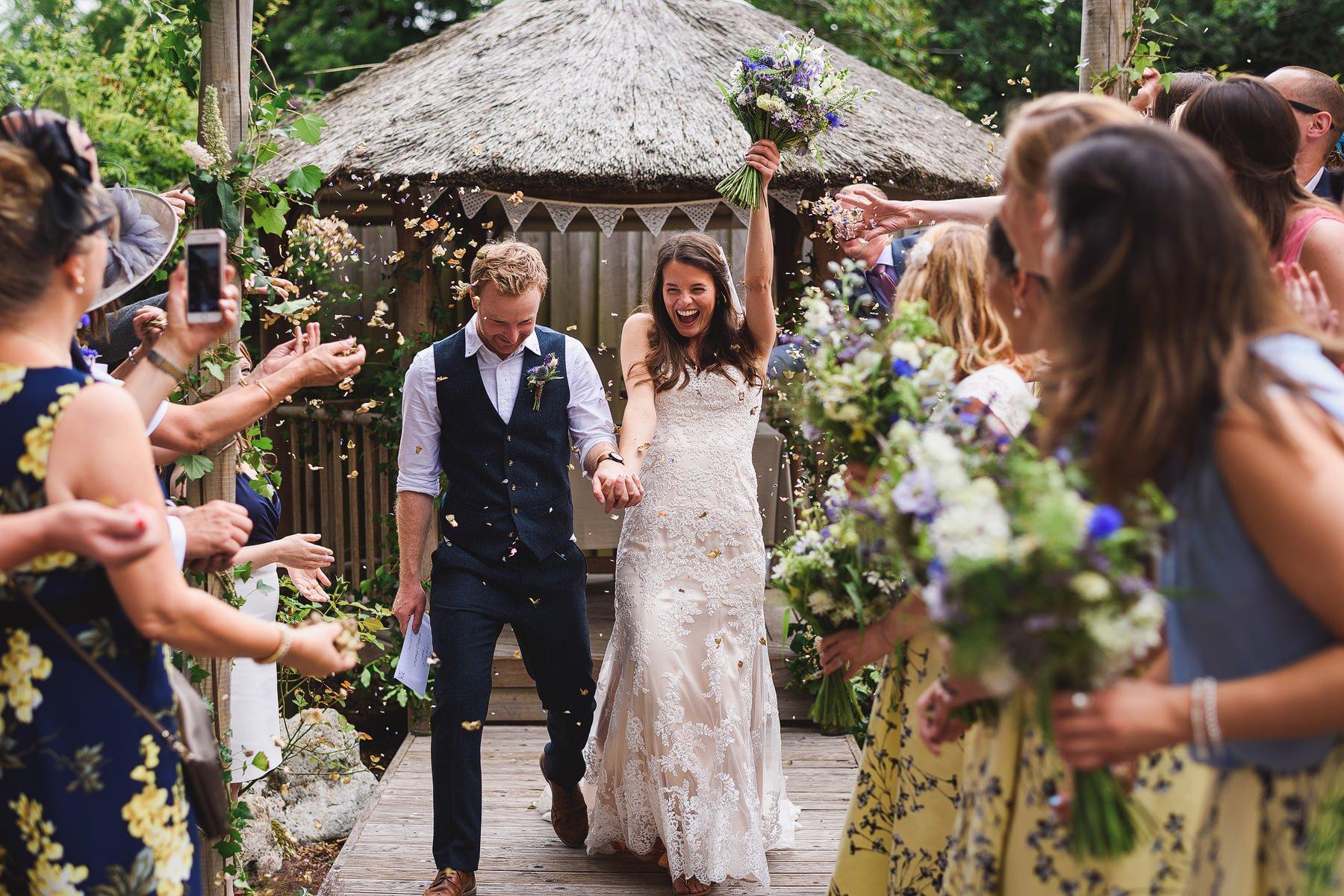a wedding at yurt camp devon