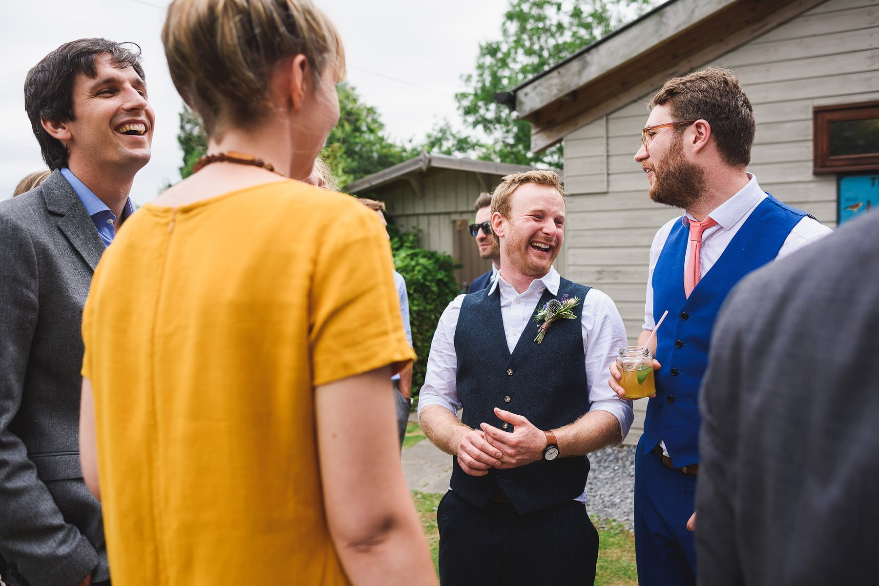 relaxed outdoors wedding in devon