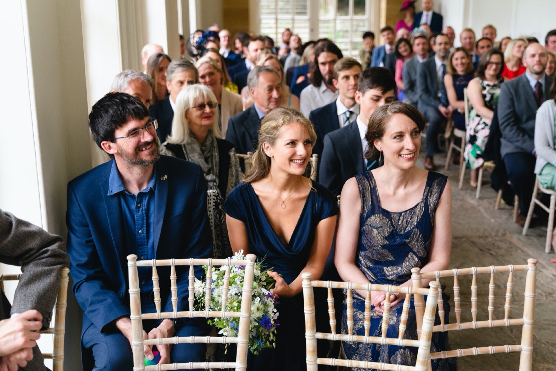 guests at wedding ceremony at hestercombe gardens