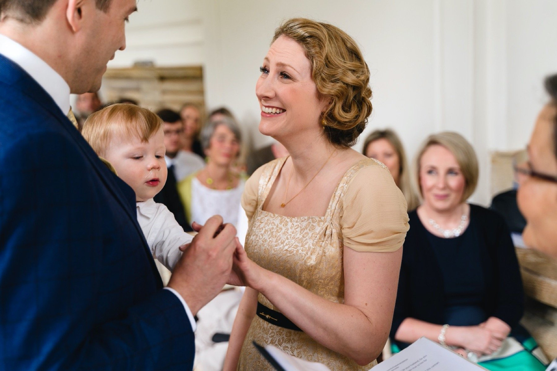 exchanging the wedding ring at hestercombe gardens