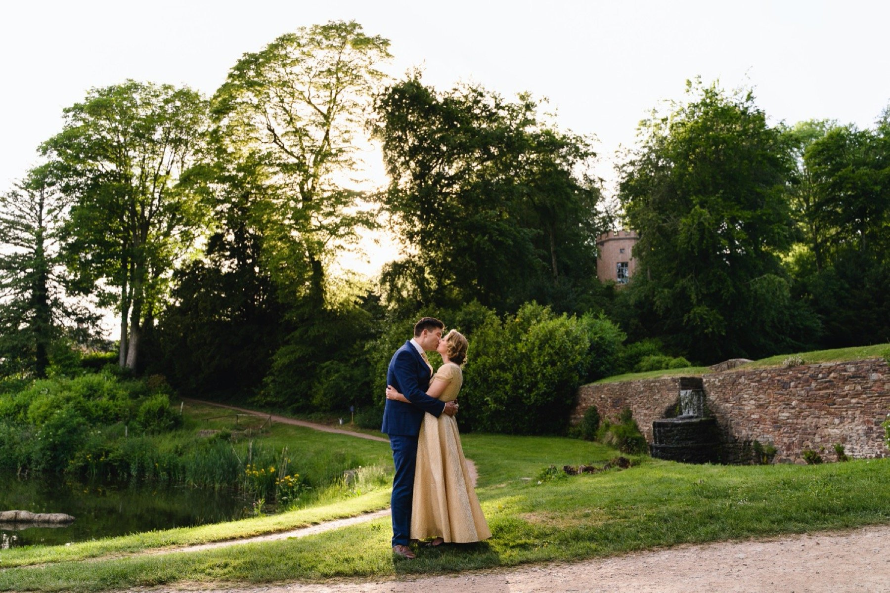 bride and groom portraits at hestercombe gardens somerset