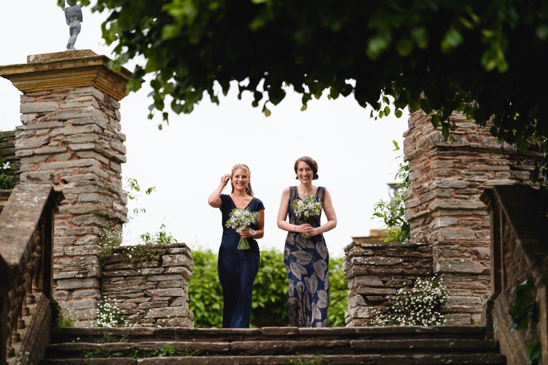 bridesmaids at hestercombe gardens